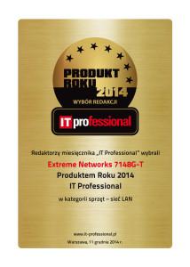 PR_ITP_2014_certyfikat_Extreme_Networks_7148G-T